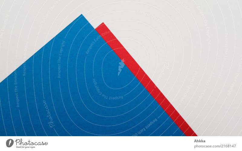 Blue and red paper mountain on white background (2) Study Economy Financial Industry Stock market Peak Stationery Paper Piece of paper Line Arrow Red White