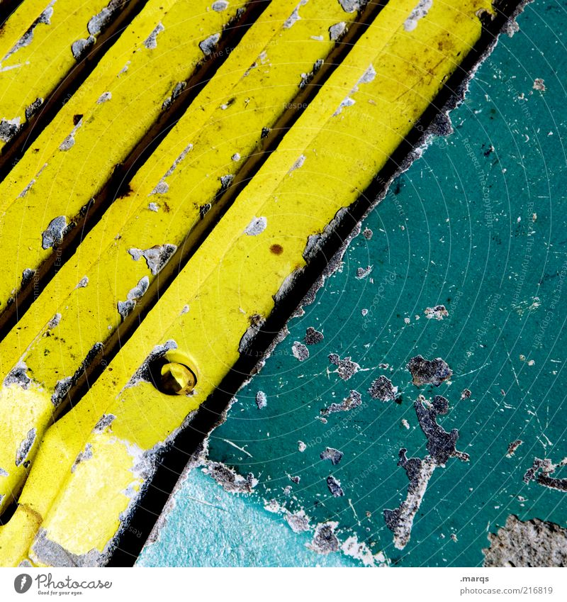 Beautiful Green Yellow Colour Style Line Metal Background picture Design Simple Stripe Steel Machinery Diagonal Partially visible Section of image