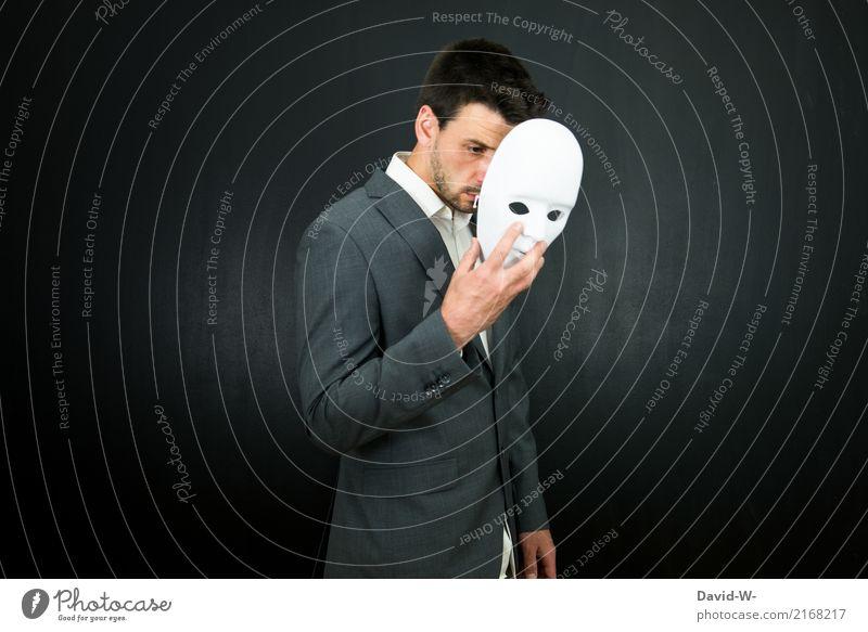 concealment Carnival Hallowe'en Unemployment Human being Masculine Man Adults Life Face Stage Culture Cinema Mask Faceless Face mask Dress up Elegant