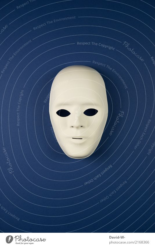 paint anonymous Lifestyle Style Design Human being Masculine Man Adults Youth (Young adults) Head Face 1 Observe Anonymous Mask Masked ball Blue Male likeness