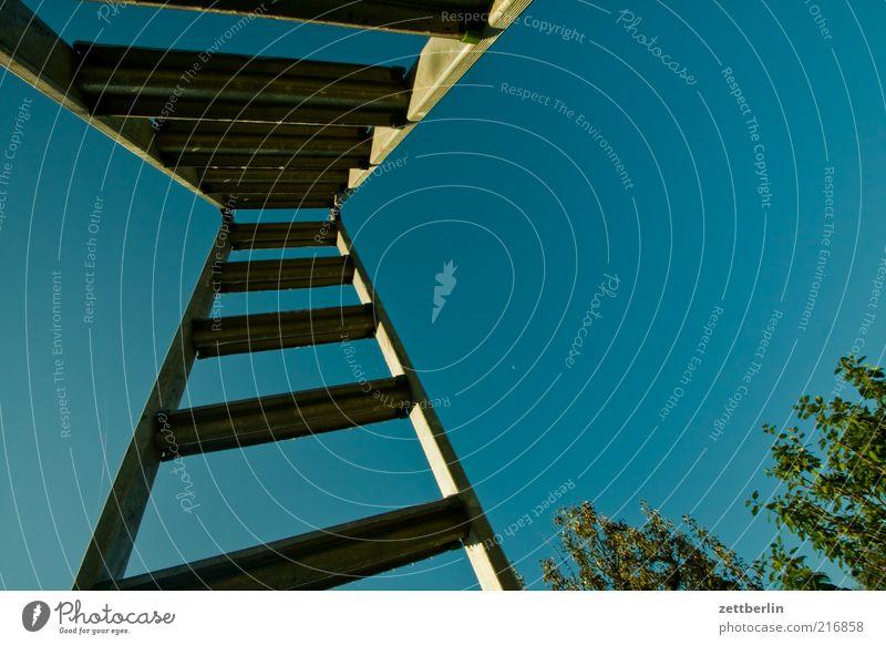 Sky Tall Upward Ladder Vertical Blue sky Heavenly Aluminium Perspective Rung Cloudless sky Skyward Clear sky
