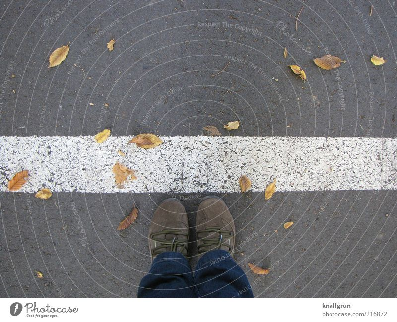 Human being White Leaf Street Gray Feet Footwear Wait Road traffic Signs and labeling Clothing Safety Arrangement Stand Border Testing & Control