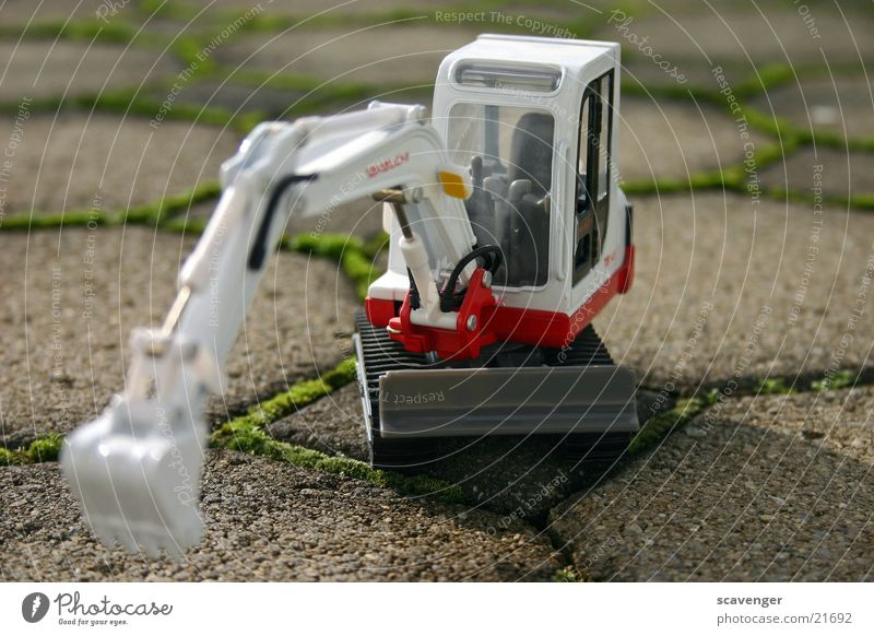 small mini-excavator Small Macro (Extreme close-up) Excavator Skid loader Wheel loader Shovel Spoon Large Near Construction machinery Hydraulic excavator