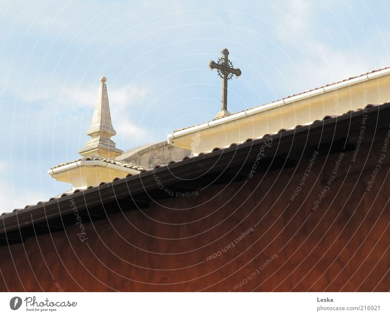 White House (Residential Structure) Wall (building) Architecture Wall (barrier) Brown Facade Church Roof Decoration Sign Crucifix Ornament Religion and faith