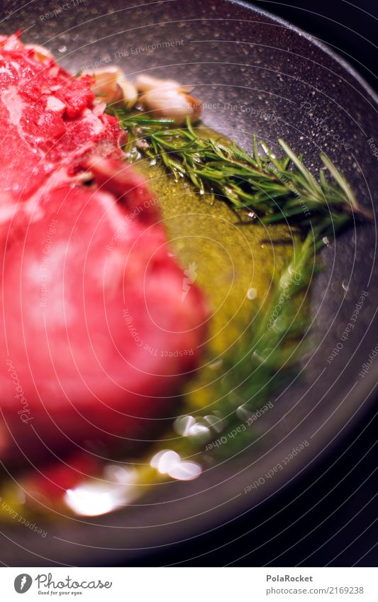 #A# Steak with olive oil Food Meat Nutrition Dinner Esthetic Meat dishes Meat-eater Cooking Frying Colour photo Multicoloured Interior shot Studio shot Close-up