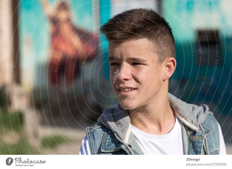 Portrait of Handsome teenage boy outdoors Human being Youth (Young adults) Man Joy Adults Lifestyle Boy (child) Happy Leisure and hobbies Smiling Happiness