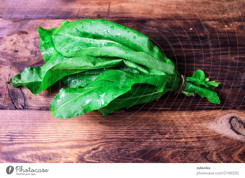 bunch of green sorrel Vegetable Herbs and spices Nutrition Eating Vegetarian diet Diet Table Nature Plant Leaf Wood Fresh Natural Green White Sorrel background