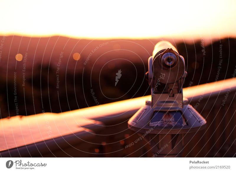 #A# Fernroh Art Esthetic Television Telescope Vantage point Far-off places Florence Colour photo Multicoloured Exterior shot Close-up Detail Experimental