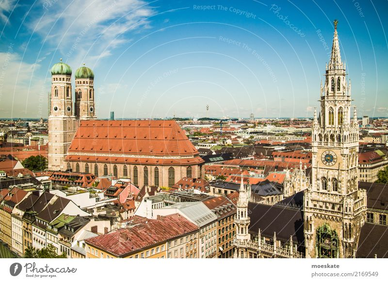 munich Munich Germany Europe Town Downtown Old town Skyline Populated House (Residential Structure) Church City hall Tower Manmade structures Building