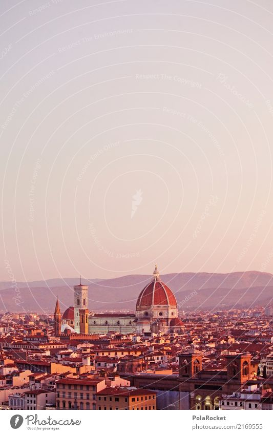 #A# D'oro Firenze Town Esthetic Florence Italy Tourist Attraction Domed roof Roof destination Colour photo Multicoloured Exterior shot Experimental Deserted