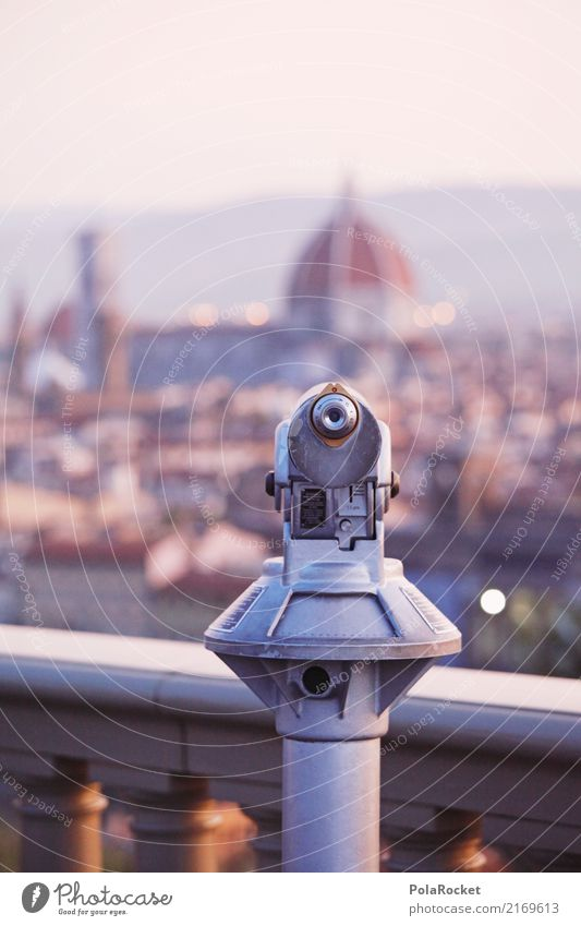 #A# Florence look Town Esthetic Italy Tourist Attraction Telescope Vantage point View from a window Review Panorama (View) Domed roof Colour photo