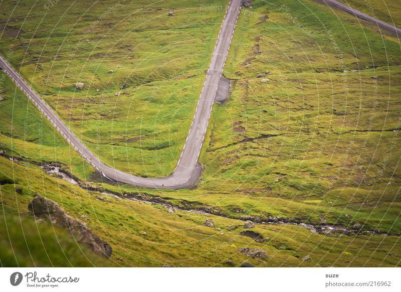 But now zackisch Mountain Environment Nature Landscape Elements Earth Weather Meadow Street Lanes & trails Exceptional Green Dangerous Føroyar Zigzag Curve