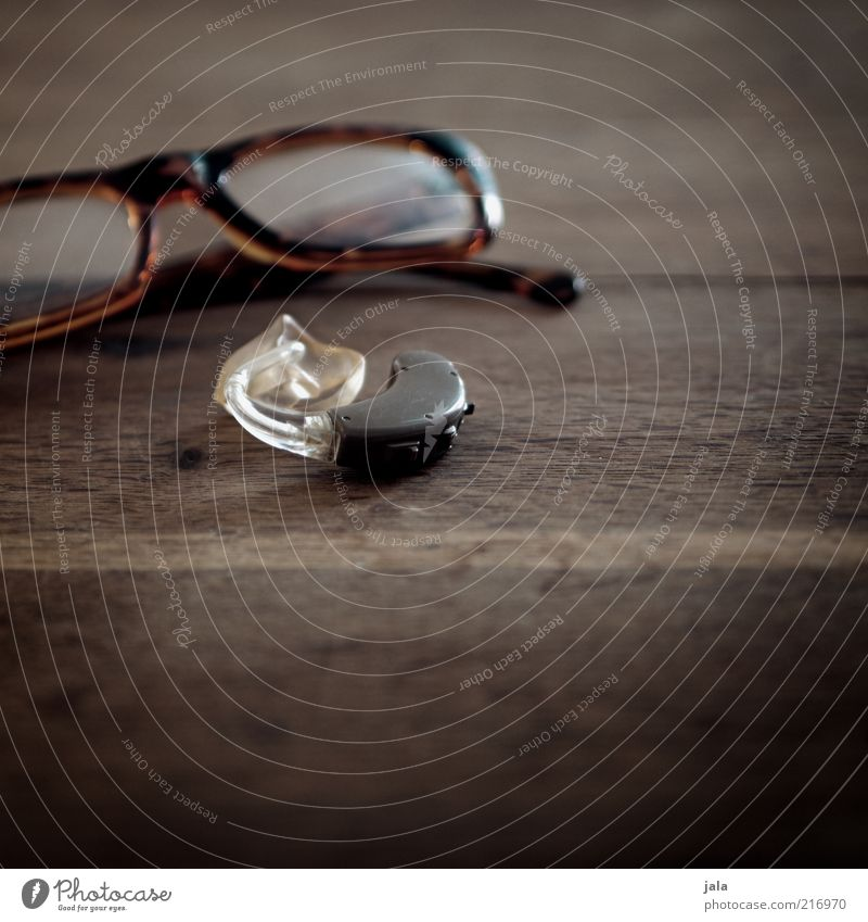 Old Wood Brown Eyeglasses Insurance Listening Financial Industry Senses Vision Health care Hearing aid Hearing impairment