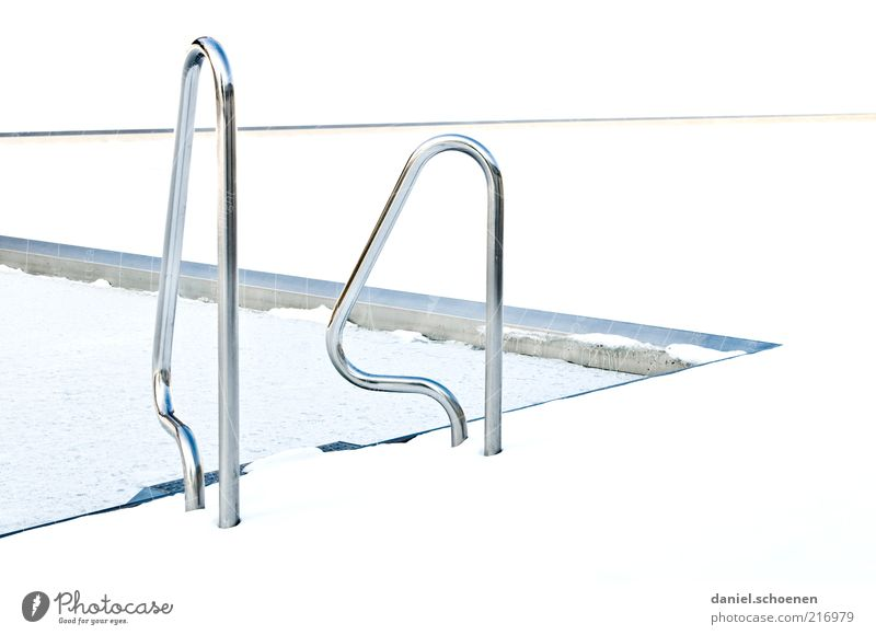 White Winter Bright Swimming pool Detail Pool ladder Abstract Sporting Complex