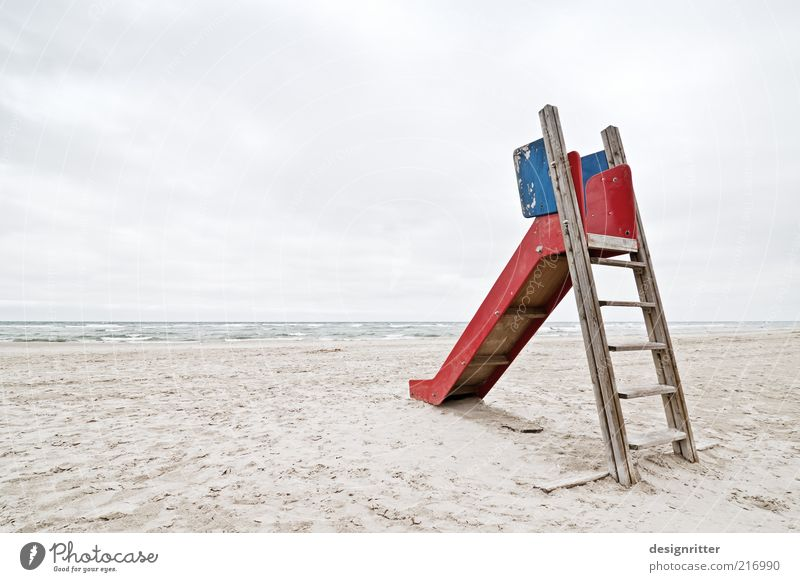 Generation Play Station Playground Slide Toys Infancy Sand Sky Horizon Weather Wind Coast North Sea Ocean Boredom Loneliness Expressionless Denmark Jutland