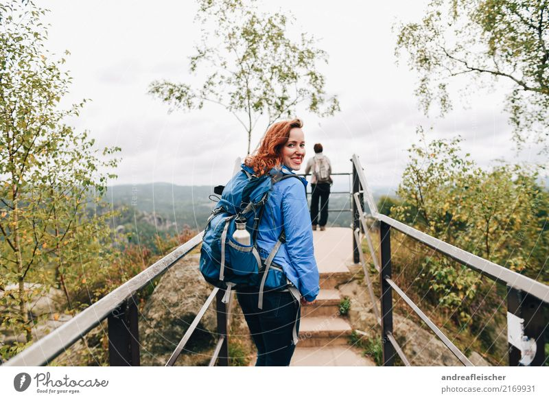 Saxon Switzerland Lifestyle Healthy Fitness Vacation & Travel Tourism Trip Far-off places Freedom Mountain Hiking Feminine Young woman Youth (Young adults) 2