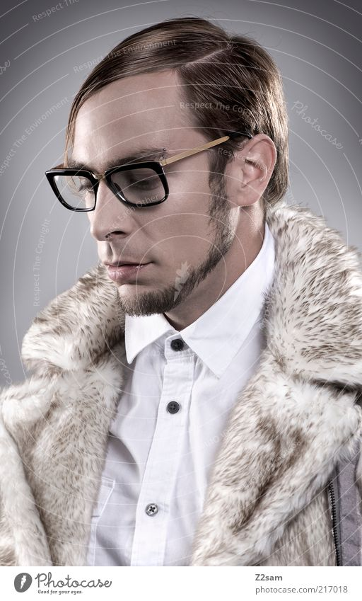 Human being Youth (Young adults) Style Hair and hairstyles Fashion Adults Masculine Elegant Crazy Eyeglasses Authentic Clean Portrait photograph Uniqueness Facial hair