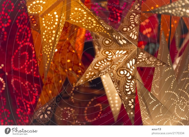 Stars for Christmas shine bright colors on Christmas market Shopping Luxury Style Design Joy Leisure and hobbies Winter Feasts & Celebrations Christmas & Advent
