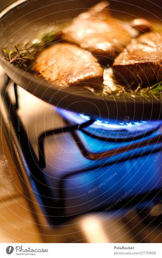 #A# MEAT! Food Meat Nutrition Dinner Esthetic Roast Frying Steak Pan Kitchen Electric kitchen appliance Colour photo Multicoloured Interior shot Studio shot