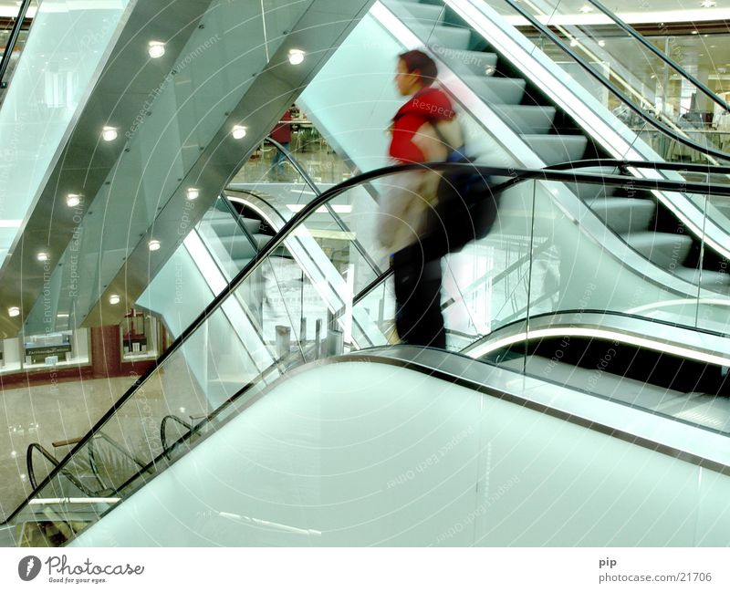 Human being Man City Red Loneliness Relaxation Architecture Sadness Think Shopping Stairs Modern Grief Driving Technology Industry