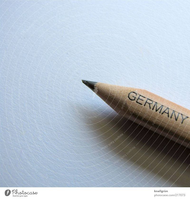 Made in Germany Pencil Characters Point Brown Gray White Inspiration Quality Value Sharpened Writing utensil Draw Colour photo Subdued colour Studio shot