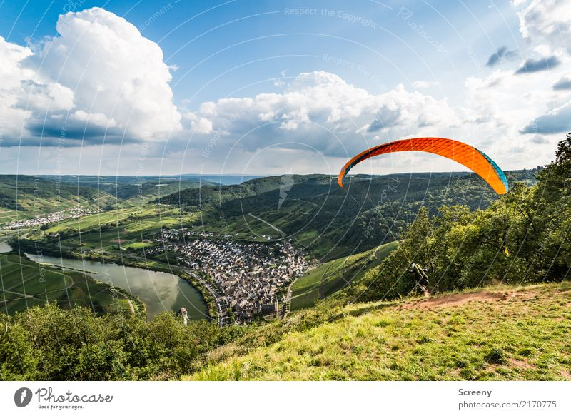 And here we go... Vacation & Travel Tourism Trip Adventure Freedom Sports Paragliding Paraglider Nature Landscape Sky Clouds Sun Summer Beautiful weather Meadow