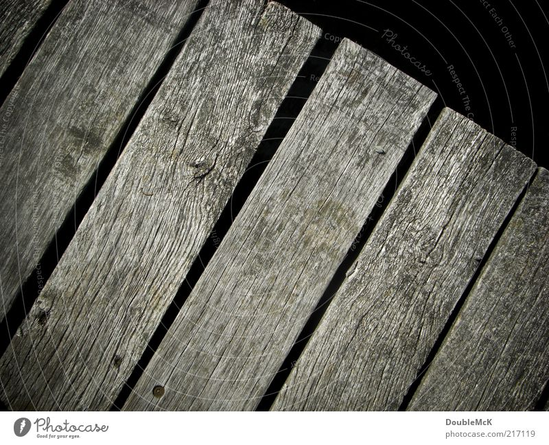 Old Calm Black Wood Gray Natural Gloomy Simple Dry Footbridge Wooden board Sharp-edged Weathered
