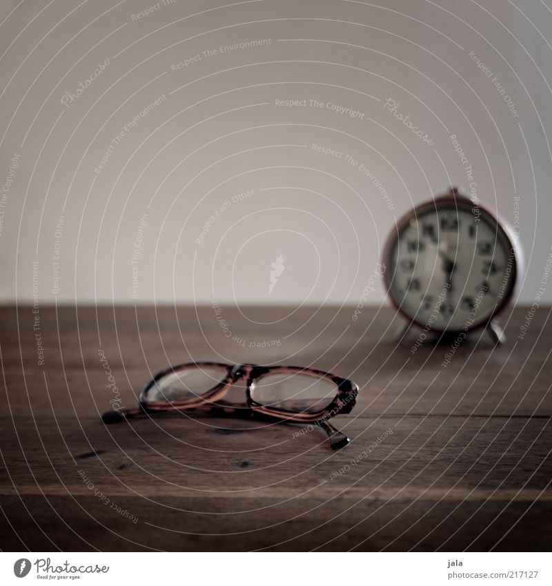Wood Gray Brown Flat (apartment) Time Table Eyeglasses Clock Still Life Alarm clock Vision Wood backing