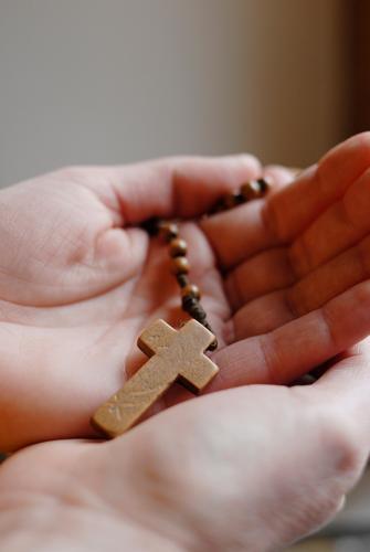 crossbearers Harmonious Subculture Wood Listening Brown Rosary Christian cross Christianity Catholicism Religion and faith Prayer Hand Grief Hope Calm