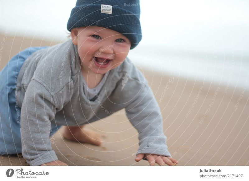 Child Human being Summer Beautiful Ocean Joy Beach Life Natural Feminine Laughter Small Happy Sand Free Growth