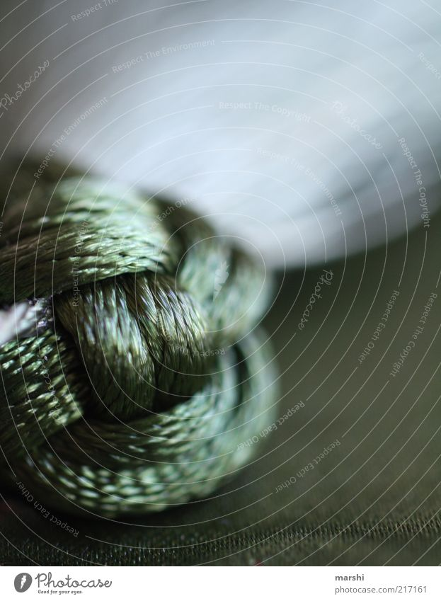 Green Dark Glittering Rope Soft Decoration Handicraft Knot