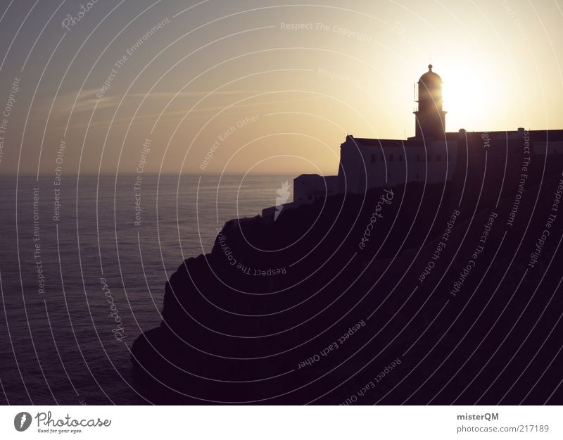 Sun Ocean Loneliness Far-off places Coast Hope Esthetic Future Romance Tower Longing Idyll Lighthouse Wanderlust South Cliff