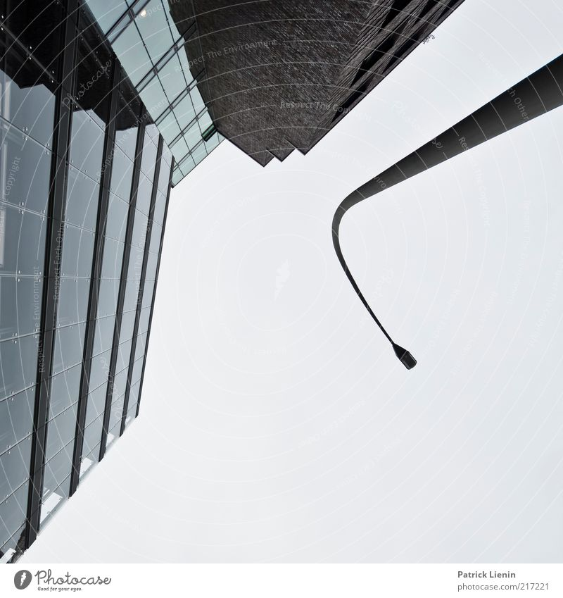 Sky City Clouds Lamp Cold Wall (building) Above Freedom Wall (barrier) Building Line Moody Bright Architecture Glass