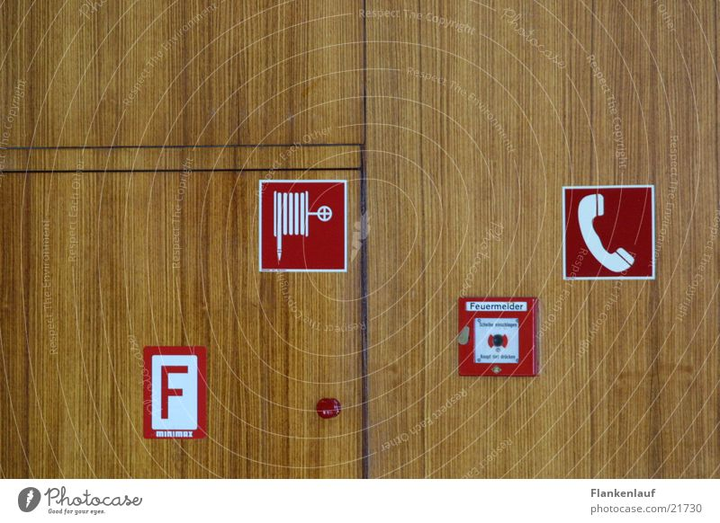 Wall (building) Wood Blaze Signs and labeling Technology Electrical equipment