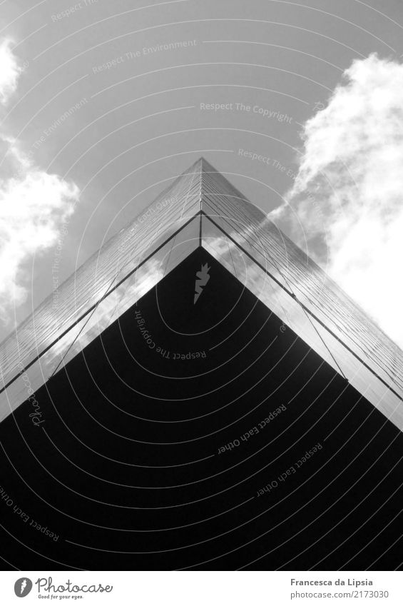 Town Black Flying Design Above Contentment Horizon Metal Modern High-rise Glass Power Perspective USA Tall Threat