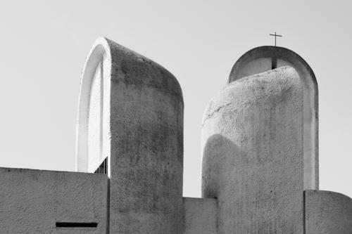 Religion and faith Architecture Wall (building) Art Wall (barrier) Exceptional Gray Design Horizon Modern Church Esthetic Stand Perspective Uniqueness Concrete