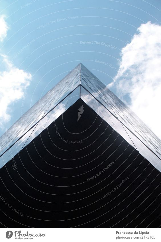 Blue Town Black Flying Design Above Contentment Horizon Metal Modern High-rise Glass Power Perspective USA Tall