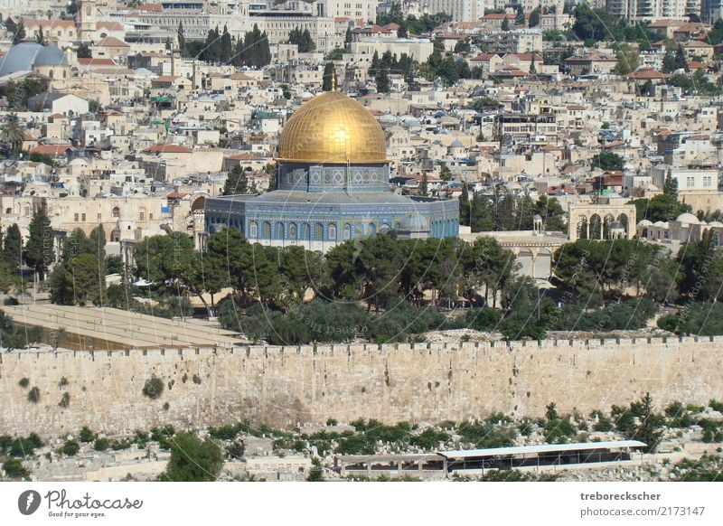 Dome of the Rock in the Temple District of Jerusalem Style Design Vacation & Travel Tourism Trip Sightseeing City trip House (Residential Structure) Israel Town