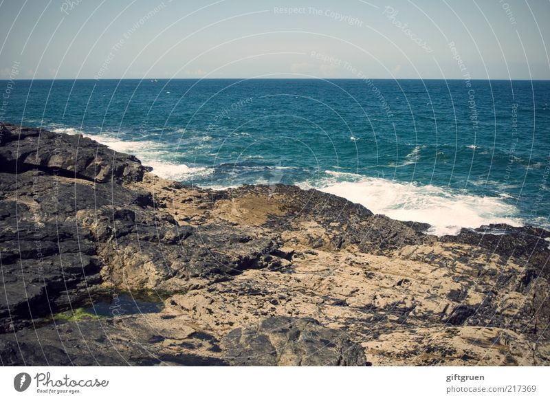 Nature Water Sky Ocean Blue Stone Landscape Coast Waves Weather Environment Horizon Rock Island Climate Natural