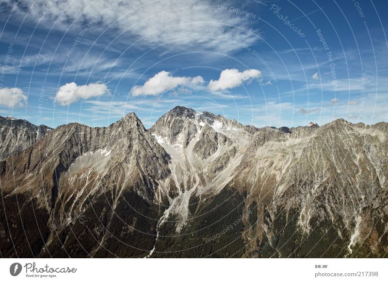 Summer Calm Clouds Mountain Environment Rock Alps Fantastic Elements Beautiful weather Wanderlust Steep Italy South Tyrol Wall of rock Antholzer valley