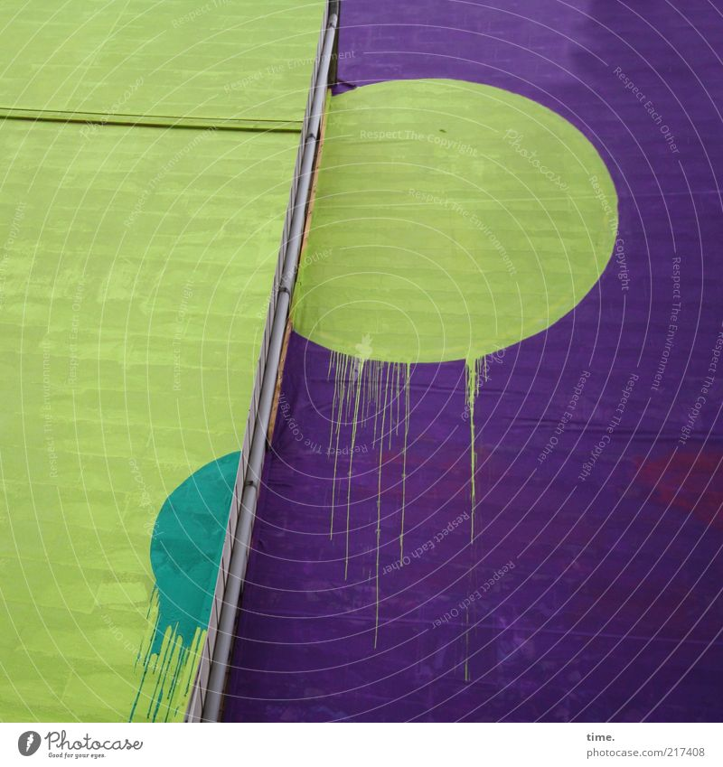 Green Wall (building) Dye Wall (barrier) Building Art Architecture Background picture Facade Drop Simple Violet Point Sphere Sign Manmade structures