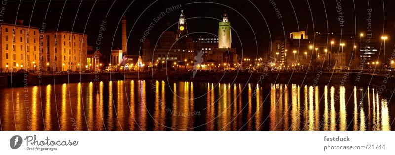 Liverpool Docks the 2nd England Great Britain Reflection Red Yellow Night Architecture Water