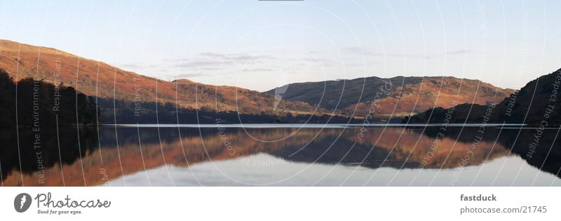Ullswater morning 8:10 Lake District National Park England Great Britain Reflection Mountain Water