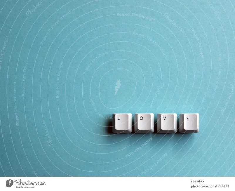 Love is... Cardboard Keyboard Letters (alphabet) Word Plastic Characters Happy Positive Blue Emotions Joie de vivre (Vitality) Spring fever Trust