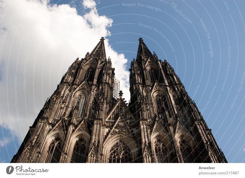 Sky Old Clouds Black Architecture Religion and faith Building Brown Germany Tall Church Europe Manmade structures Skyline Monument