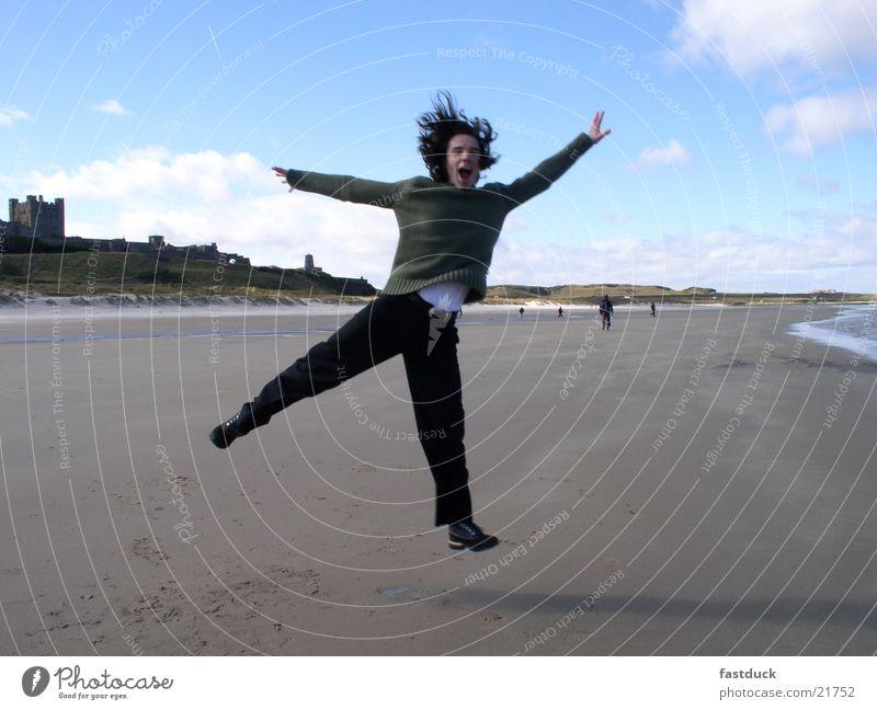Human being Water Joy Beach Emotions Movement Masculine England Scotland Great Britain