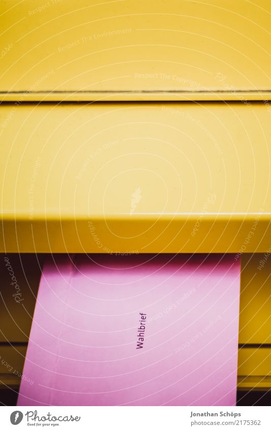 election letter Mailbox Select Yellow Pink Resolve Society 2017 absentee balloting Federal elections Bundestag election 2017 civil right Decide