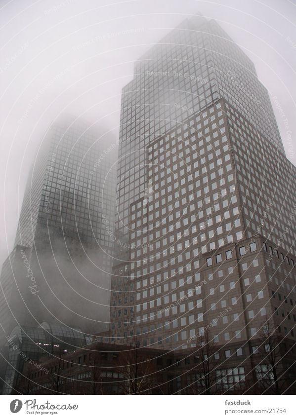Fog over Manhattan New York City High-rise Architecture south manhattan one finacial plaza 17th december hudson river side