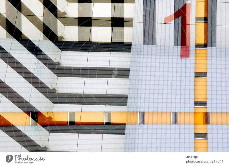 White City Blue Red Black Yellow 1 Style Building Line Architecture Design High-rise Facade Crazy Lifestyle