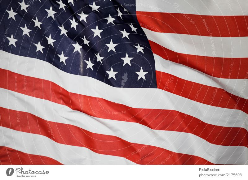#A# US flag Economy Trade USA American Flag US Army US-Open Americas Red White Blue Stars Colour photo Multicoloured Exterior shot Detail Abstract Pattern